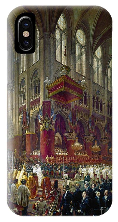 1841 IPhone X / XS Case featuring the photograph Paris: Notre Dame, 1841 by Granger