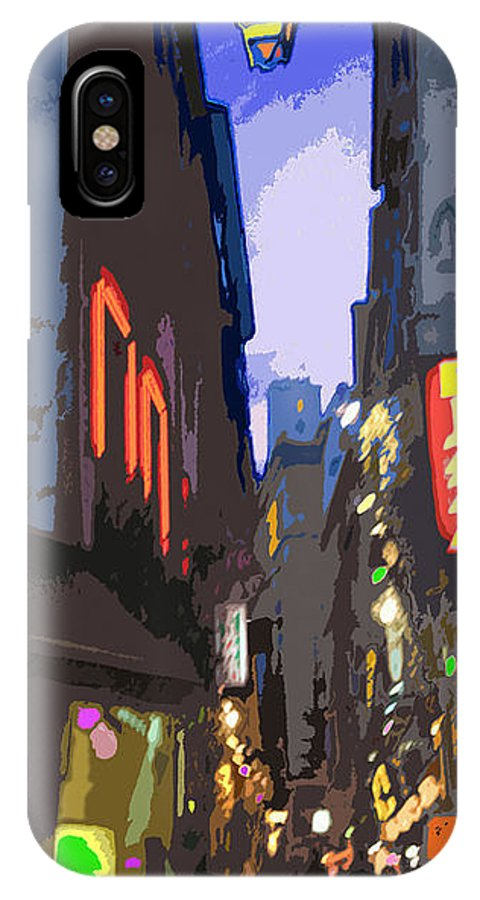 Paris IPhone X Case featuring the photograph Paris Quartier Latin 01 by Yuriy Shevchuk