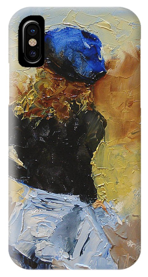 Figurative IPhone X Case featuring the painting Parisian by Barbara Andolsek