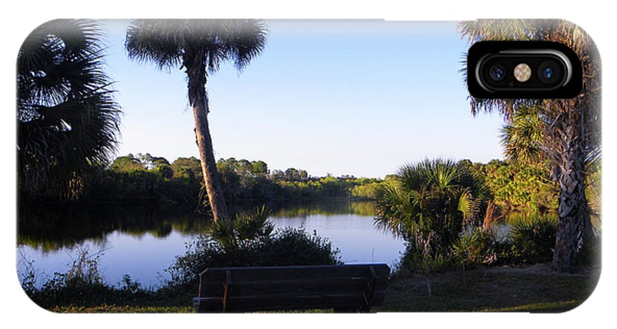Myakka River IPhone X Case featuring the photograph Park Bench by Ric Schafer
