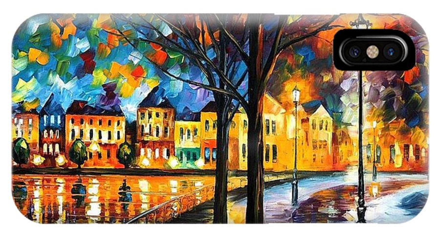 Afremov IPhone X Case featuring the painting Park By The River by Leonid Afremov