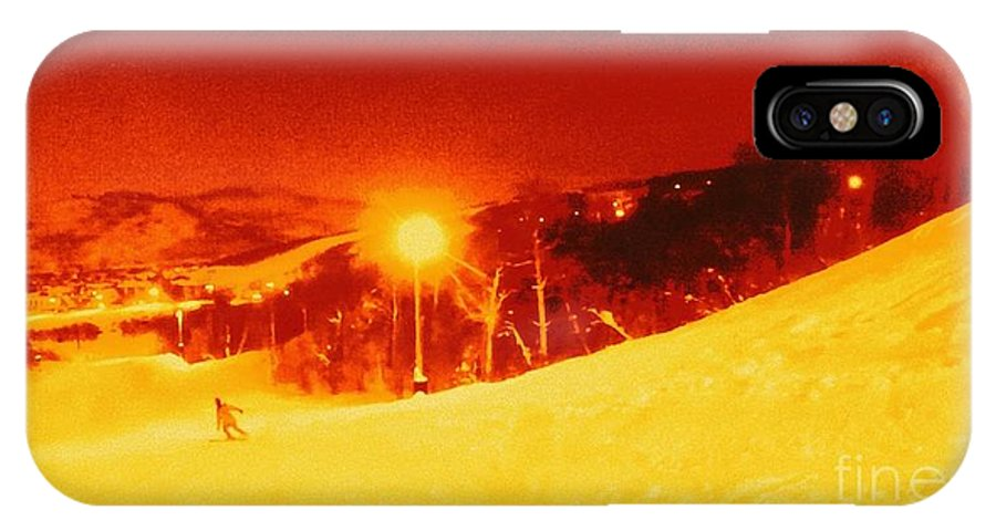 Ipad Photo Enhanced. Park City IPhone X Case featuring the photograph Park City Gold by Ricardo Richard W Linford