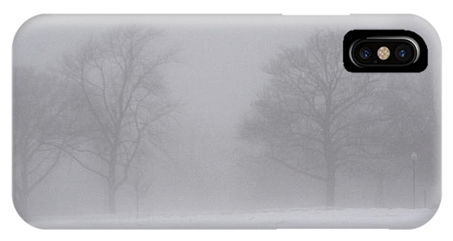 Fog IPhone X Case featuring the photograph Park In Winter Fog by Tim Nyberg