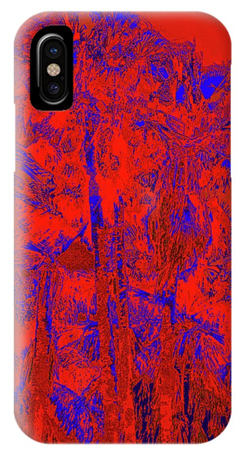 Palms IPhone X Case featuring the photograph Parking Lot Palms 1 20 by Gary Bartoloni