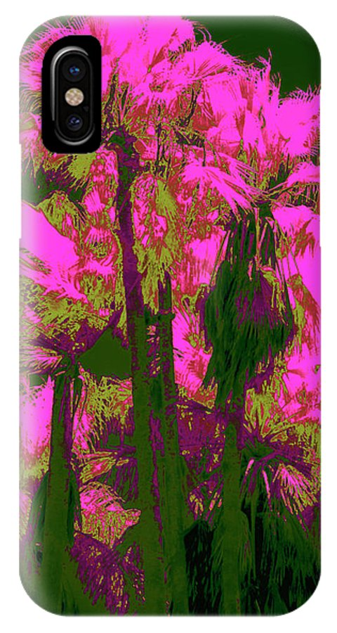 Palms IPhone X Case featuring the photograph Parking Lot Palms 1 5 by Gary Bartoloni