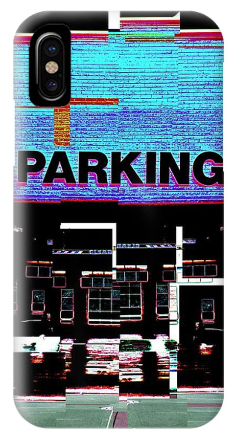 Parking Lot IPhone X Case featuring the digital art Parking by Tim Allen