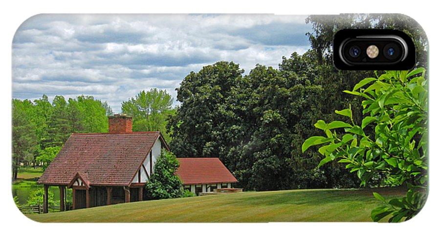 Landscape IPhone X Case featuring the photograph Parkland Cottage by Ann Horn