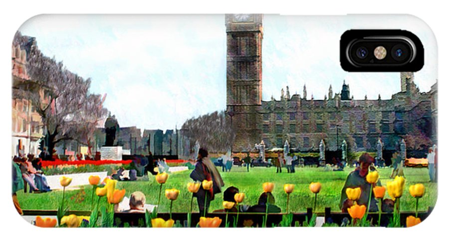 London IPhone X Case featuring the photograph Parliament Square London by Kurt Van Wagner