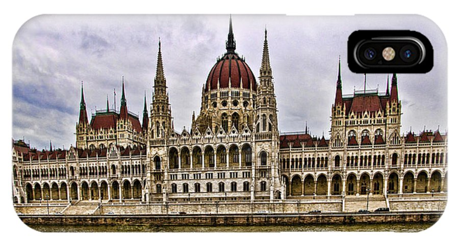 Parliment Building IPhone X / XS Case featuring the photograph Parliment - Budapest by Jon Berghoff