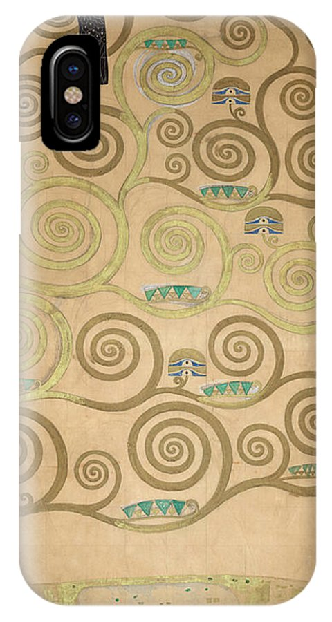 Tree Of Life IPhone X Case featuring the painting Part Of The Tree Of Life, Part 5 by Gustav Klimt