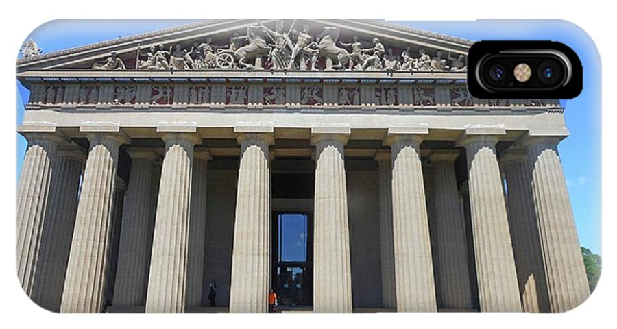 Nashville IPhone X Case featuring the photograph Parthenon Nashville 5 by Ron Kandt