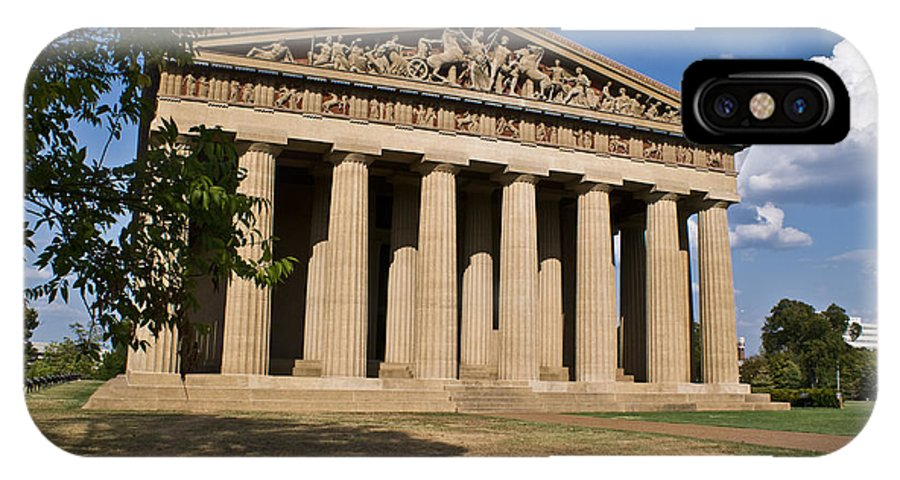 Parthenon IPhone X Case featuring the photograph Parthenon Nashville Tennessee by Douglas Barnett