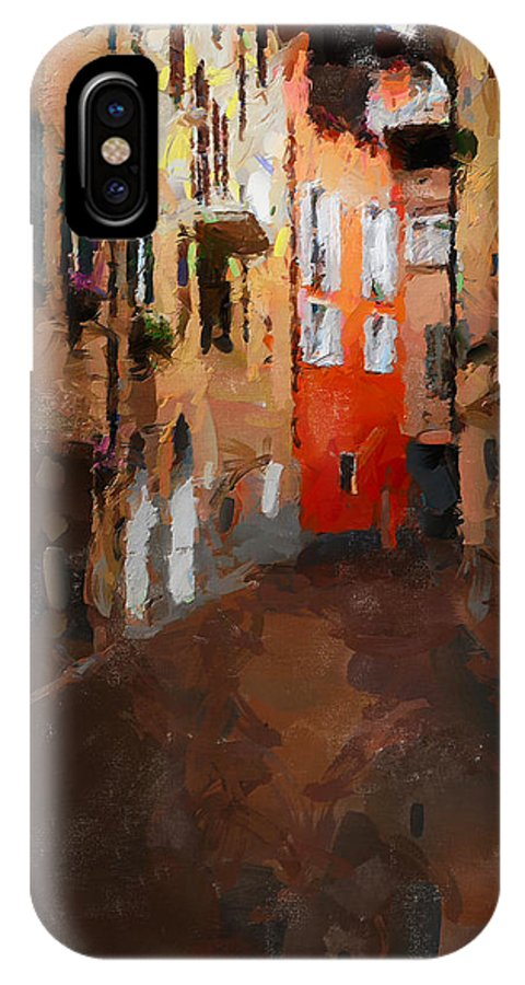 Travel IPhone X Case featuring the painting Parting by Greg Collins