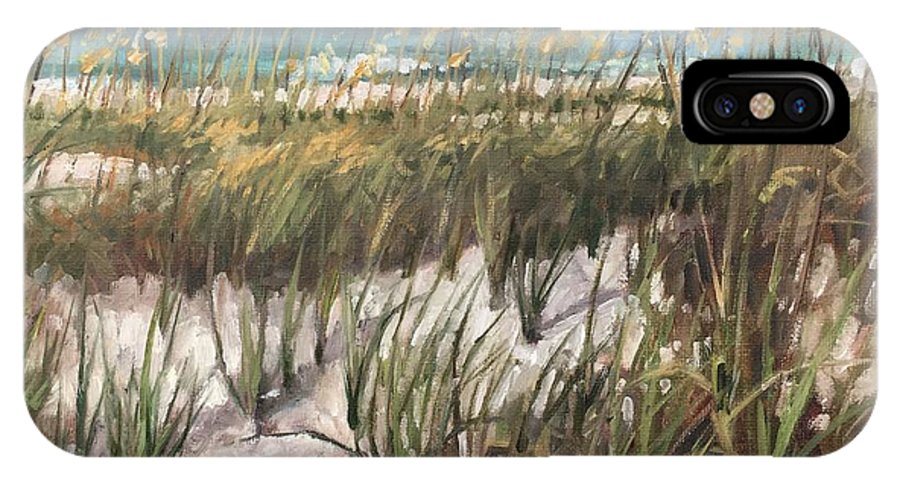 Anna Maria Island IPhone X Case featuring the painting Waiting On The Sun by Cory Wright
