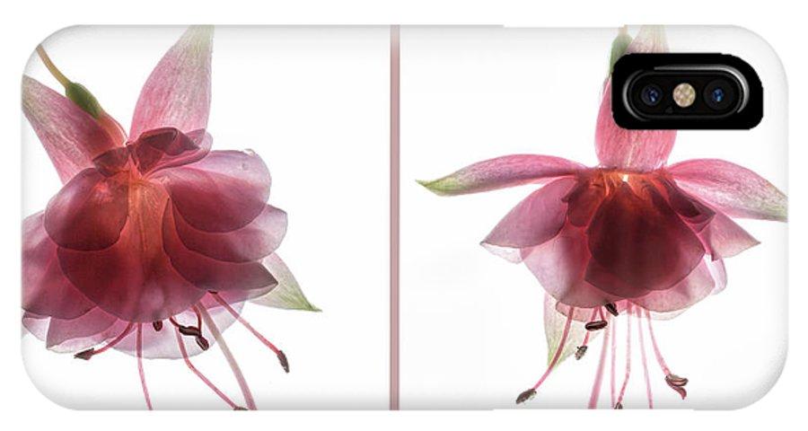 Fuchsia IPhone X Case featuring the digital art Pas De Deux by Francesca Winspeare