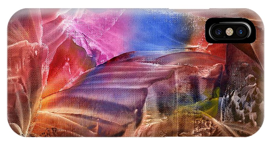 Steps IPhone X Case featuring the painting Passage IIi by Eileen Fong