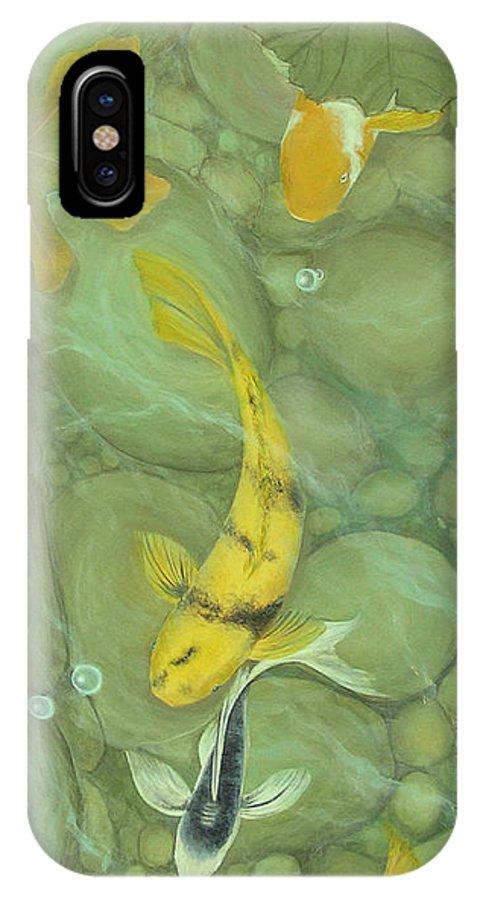 Mishel Vanderten IPhone X Case featuring the painting Passage by Mishel Vanderten