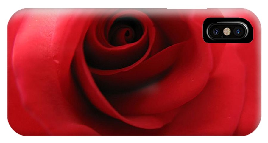 Rose IPhone X Case featuring the photograph Passion by Carol Sweetwood