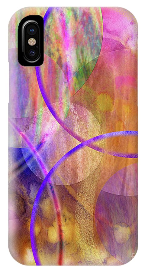 Pastel Planets IPhone Case featuring the digital art Pastel Planets by John Beck