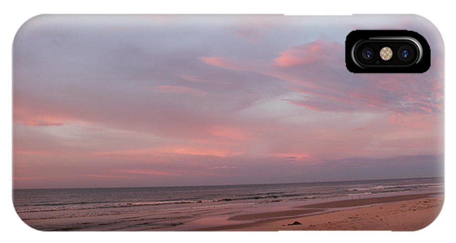 Beach IPhone X Case featuring the photograph Pastel Sunrise by Laura Martin
