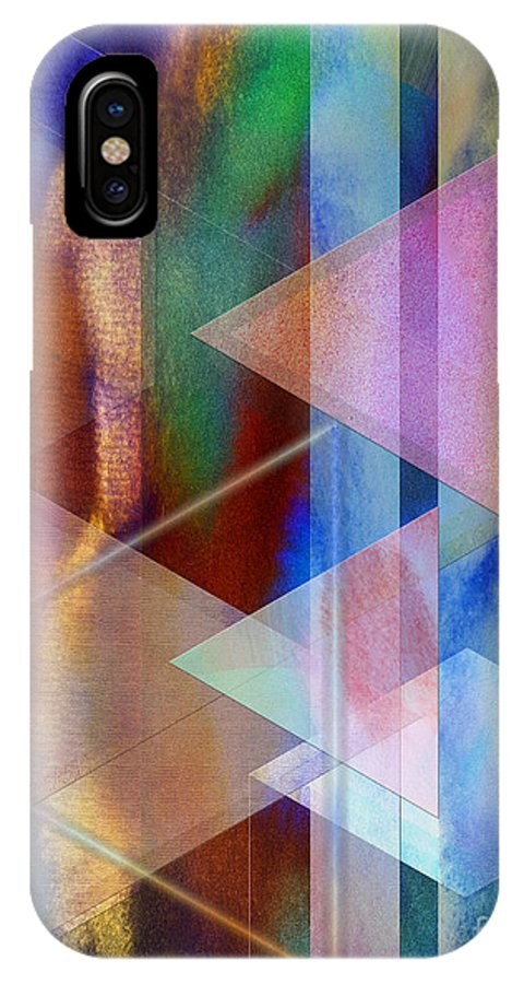 Pastoral Midnight IPhone X Case featuring the digital art Pastoral Midnight by John Beck