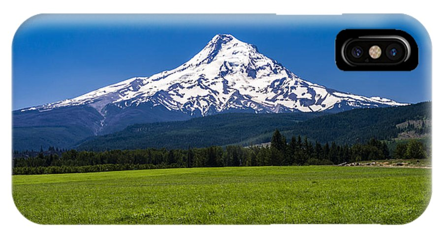 Agriculture IPhone X Case featuring the photograph Pasture View Of Mt. Hood by John Trax