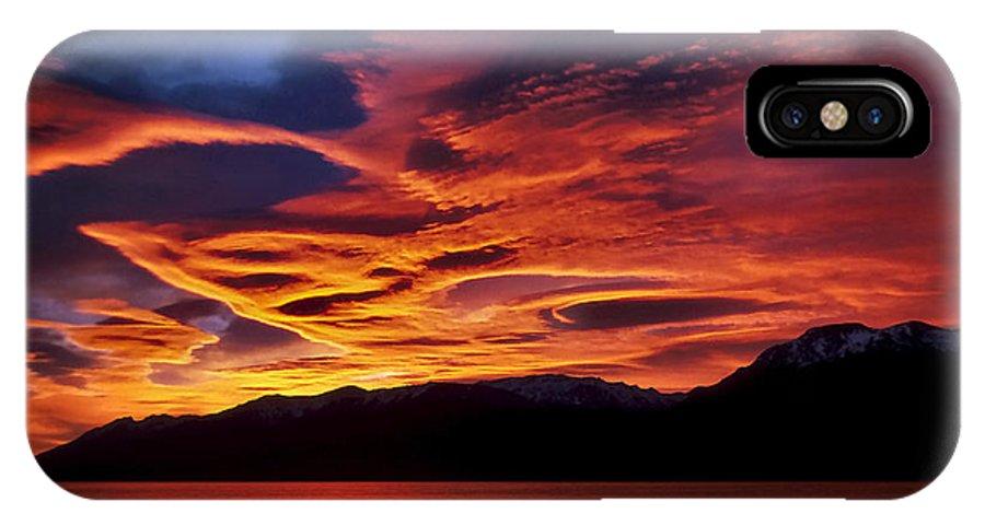 Patagonia IPhone X / XS Case featuring the photograph Patagonian Sunrise by Joe Bonita