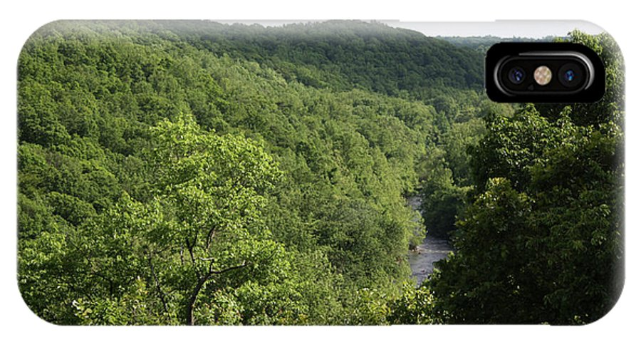 Maryland IPhone X Case featuring the photograph Patapsco Valley State Park - Overlook by Ronald Reid