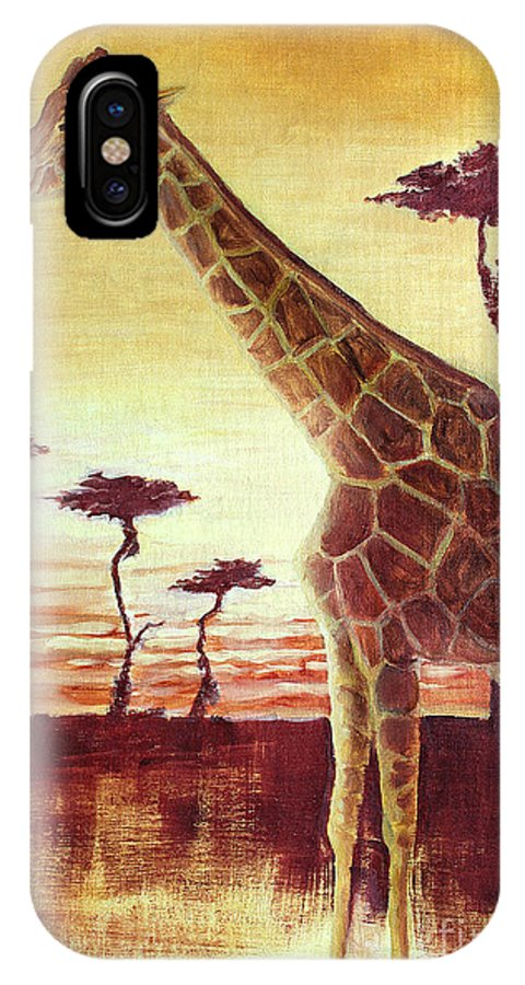 Animal IPhone X Case featuring the painting Patches by Todd Blanchard