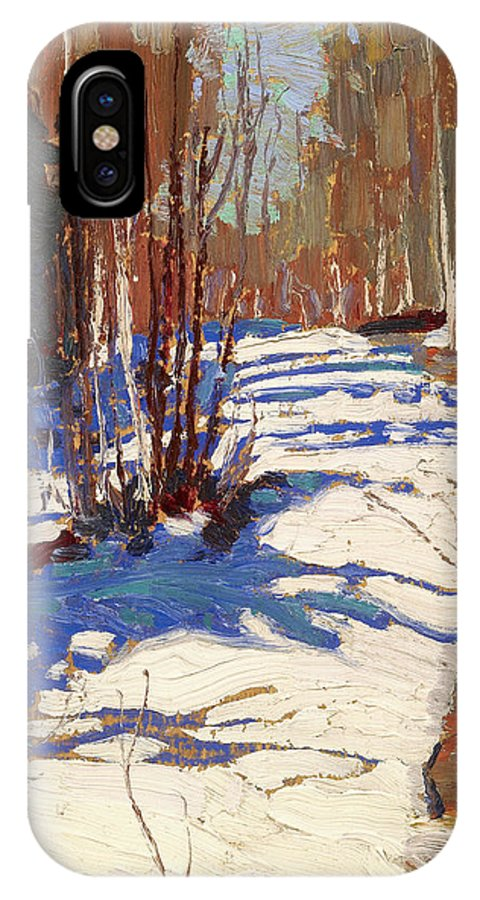 20th Century Art IPhone X Case featuring the painting Path Behind Mowat Lodge by Tom Thomson