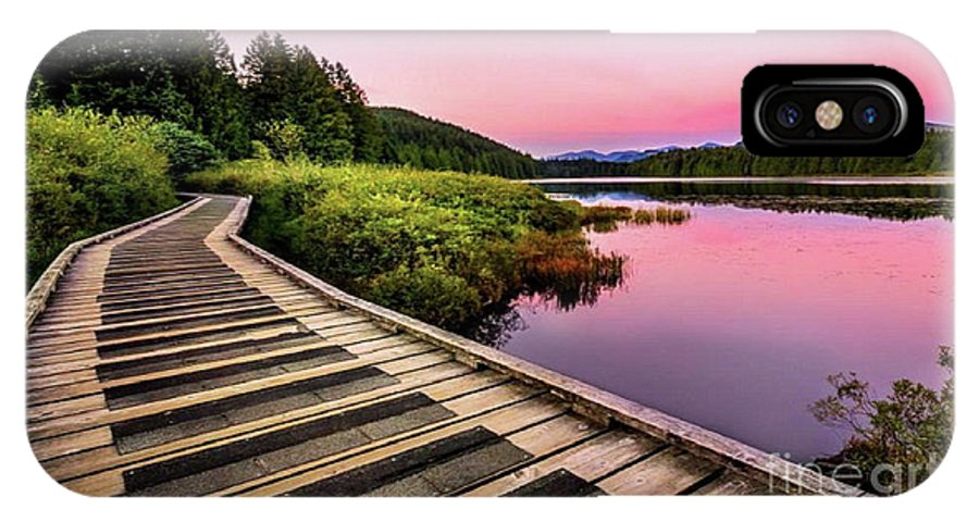 Calm Evening Sky IPhone X Case featuring the photograph Path By The Lake by Rod Jellison
