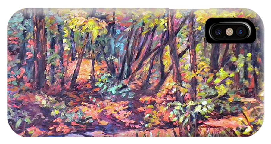 Landscape IPhone X Case featuring the painting Path Near Pandapas by Kendall Kessler