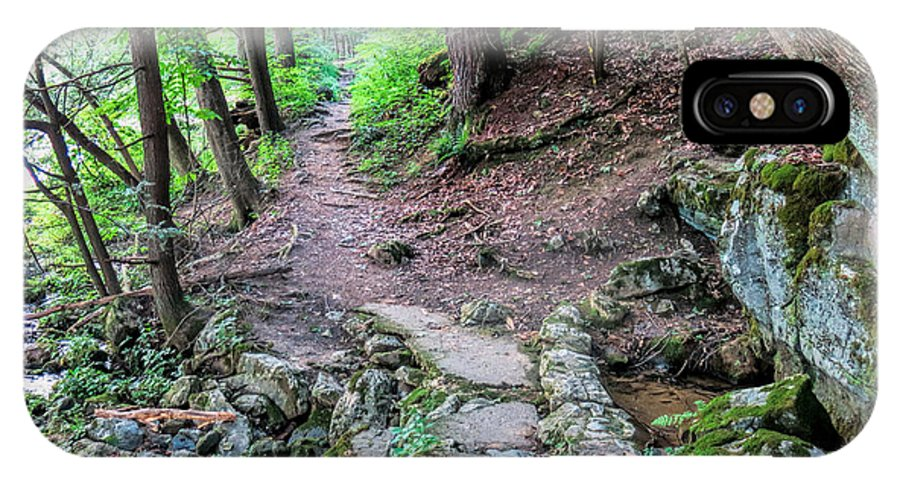 Path IPhone X Case featuring the photograph Path Over Limestone Spring by Jean Macaluso