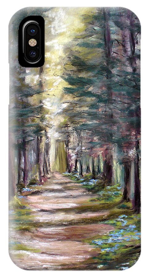 Landscape IPhone X Case featuring the painting Path To Enlightenment by Cathy Weaver