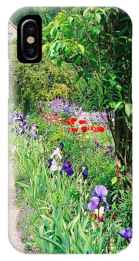 Claude Monet IPhone X Case featuring the photograph Path To Monet's House by Nadine Rippelmeyer