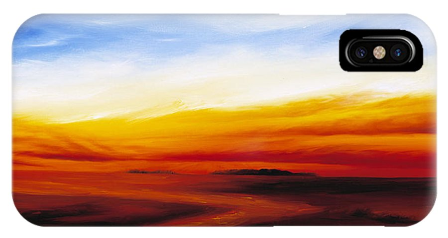 Sunrise IPhone X Case featuring the painting Path To Redemption by James Christopher Hill