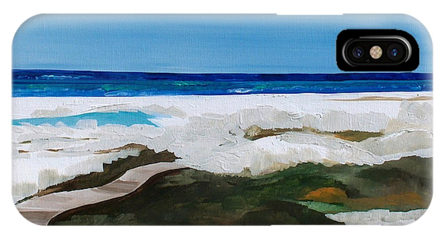 Beach IPhone X Case featuring the painting Path to the Sea by Racquel Morgan