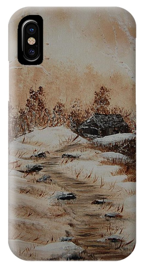 Acrylics IPhone X Case featuring the painting Pathway To Freedom by Laurie Kidd