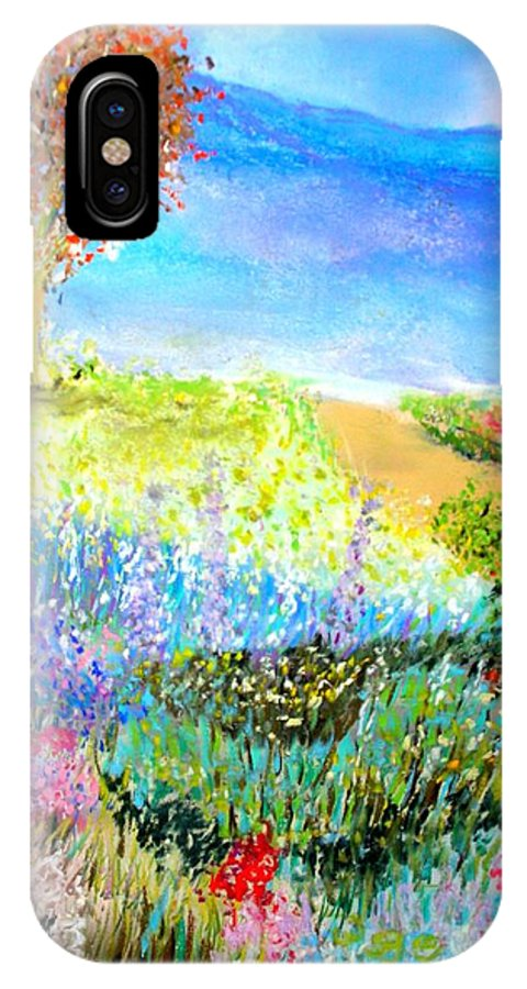 Landscape IPhone X Case featuring the print Patricia's Pathway by Melinda Etzold