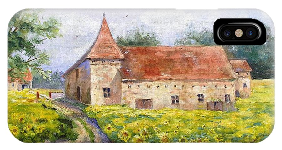 France IPhone Case featuring the painting Patricks Barn by Barbara Couse Wilson