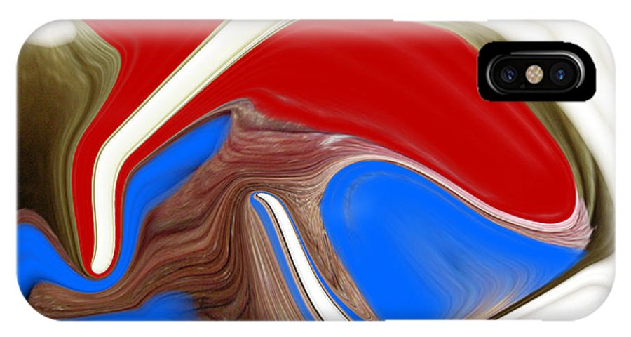 Abstract IPhone X Case featuring the photograph Patriot by Allan Hughes