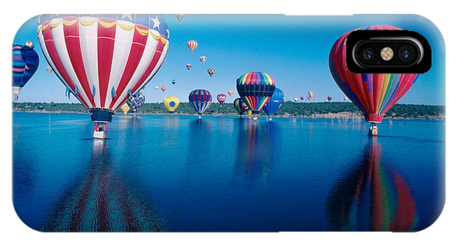 Hot Air Balloons IPhone X Case featuring the photograph Patriotic Hot Air Balloon by Jerry McElroy
