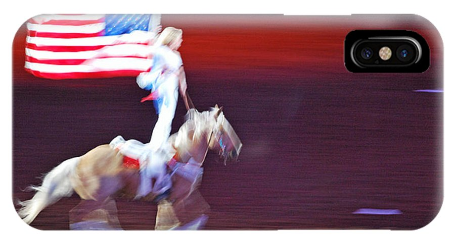 Teresa Blanton IPhone X Case featuring the photograph Patriotic Light by Teresa Blanton