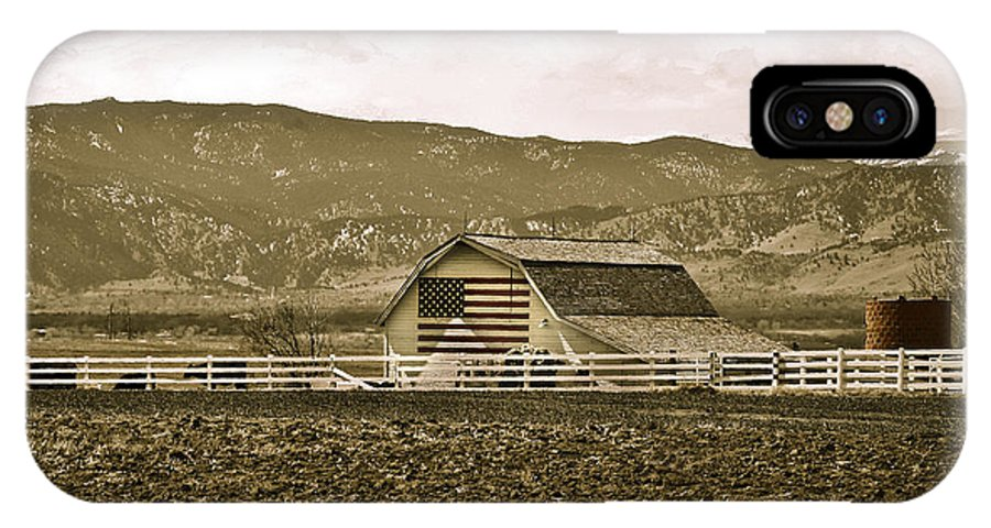 Americana IPhone Case featuring the photograph Patriotism And Barn by Marilyn Hunt