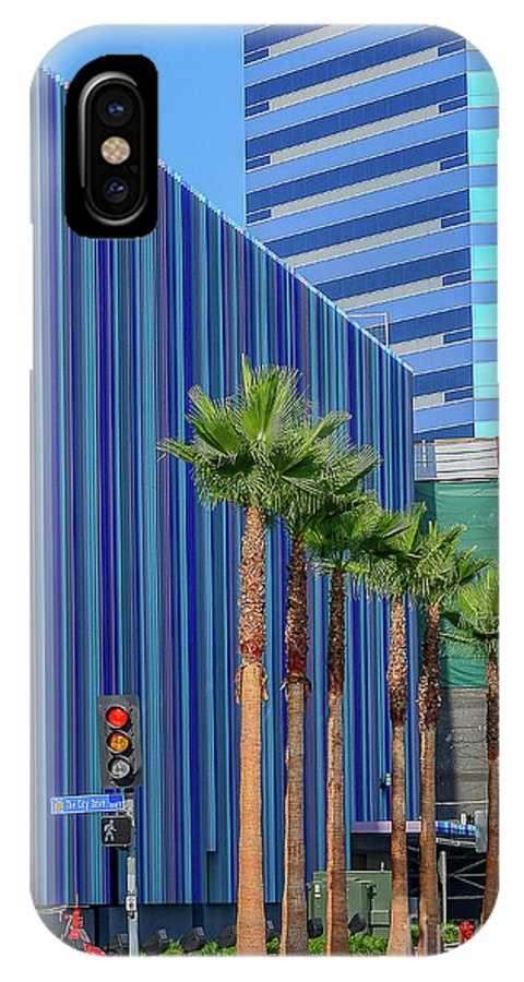 Street Scene IPhone X Case featuring the photograph Patterns In Design by Hank Taylor