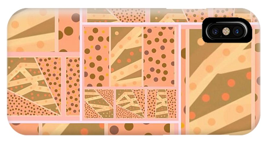 Tan IPhone X Case featuring the digital art Patterns Of Finding Solace 200 by Joan Ellen Kimbrough Gandy of The Art Of Gandy