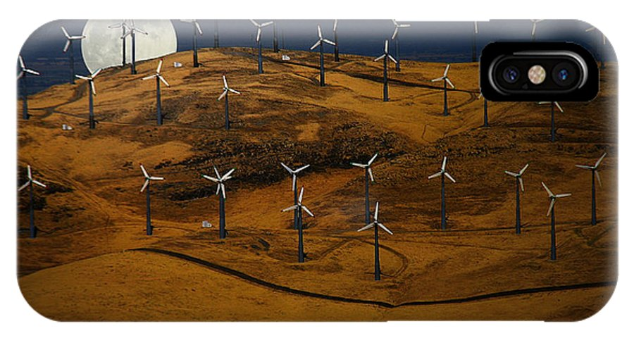 Landscape IPhone X Case featuring the photograph Patterson Pass Wind Farm by Karen W Meyer