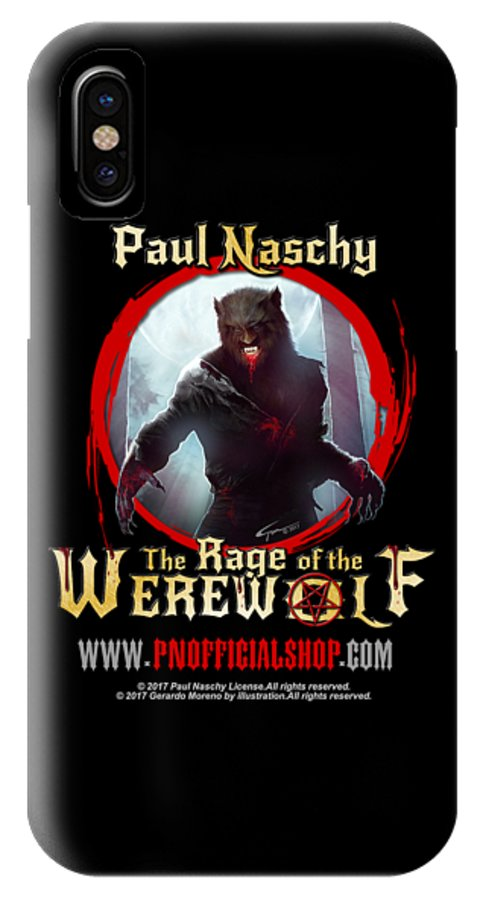 Paul Naschy IPhone X Case featuring the digital art Paul Naschy - The Legacy - Logo 2 by Paul Naschy