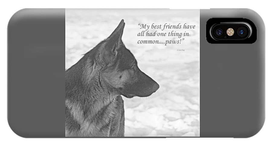 German Shepherds IPhone X Case featuring the photograph Paws by Sue Long