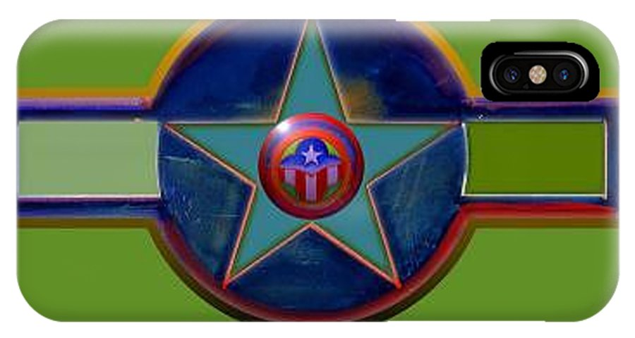 Usaaf Insignia IPhone X Case featuring the digital art Pax Americana Decal by Charles Stuart